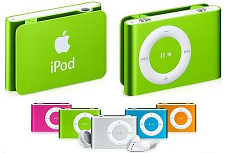 ipod shuffle new colors 1 Pictorial Timeline of Apple Macintosh Computers, Gadgets and iPods in History