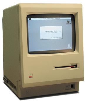 1macintosh 128k Pictorial Timeline of Apple Macintosh Computers, Gadgets and iPods in History
