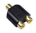 picture 1 Hook your computer speakers or iPod to your TV with this 3.5mm Audio Jack (Female) to RCA Audio Converter (30cm)