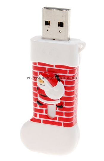 picture 4 Christmas Stocking USB drive, and up the chimney he goes