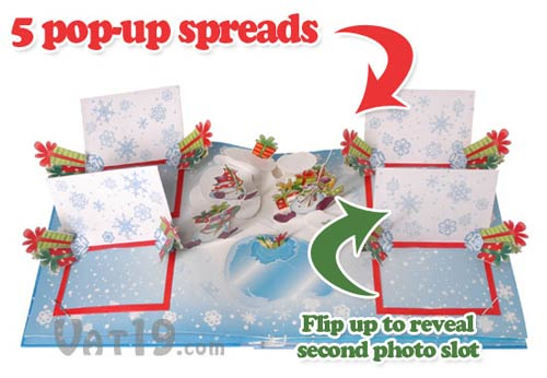 pop up christmas album cutout1 Your own Christmas Story in this pop up x mas photo album