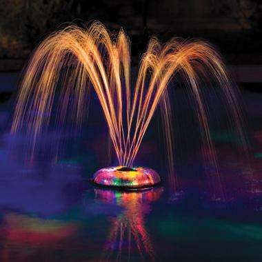 colourfountain Underwater lightshow fountain is pretty sweet