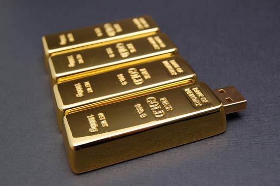 gold bar usb flash drive1 Another golden idea, 24k USB Flash Drives