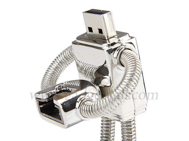 usb robot flash drive keychain