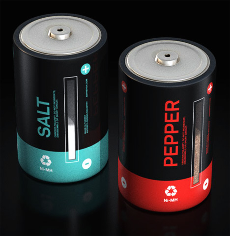 notjust salt pepper2 Sexy Salt and Pepper shakers that look like batteries are pretty sweet