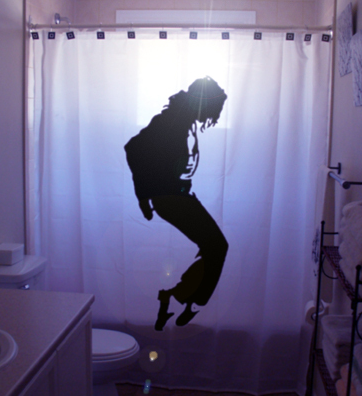 picture 9 Dangerous to moonwalk in the shower with a Michael Jackson shower curtain
