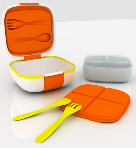 mo ben portable heating food system detail Mo:Ben, a tiny portable food container with a built in heater