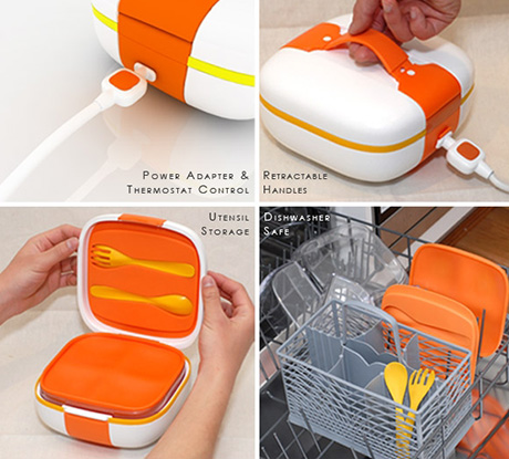 mo ben portable heating food system details Mo:Ben, a tiny portable food container with a built in heater