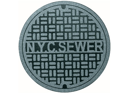 rugs 1181 ny New York City Sewer Floor Rug is the definition of Urban Design