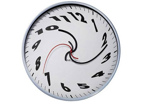 clok 13111 Time Trippin with the Dali Melting Time Wall Clock