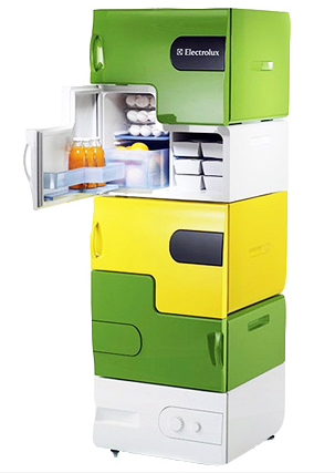 picture 1 Stackable fridge – a nice concept for roommates