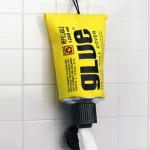 Glue toiletpaperholder 150x150 Glow in the dark toilet paper is really weird and thankfully non toxic