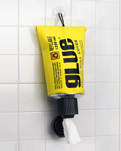 Glue toiletpaperholder Stay glued to your seat with a Crazy Glue Toilet Paper Dispenser
