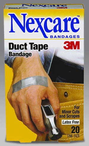 duct tapex Duct tape DOES work on everything. Duct Tape Bandages