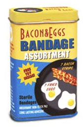 bacon eggs breakfast bandages The Most Excellent List of Bandages and Band aids