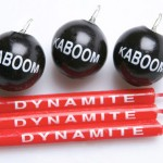 dynamite and bomb candles 2 150x150 Kaboom Birthday Candles look like real cartoon bombs