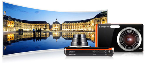 feat wide angle Samsung 2View ST550 is worlds first Dual LCD digital camera