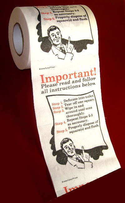 how to TP Instructional Toilet Paper
