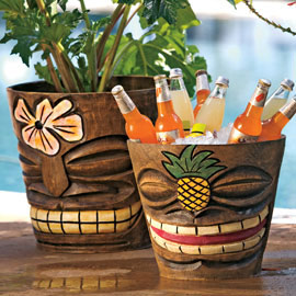 tiki flower pots Add some island flair to your plants with a Tiki Flower Pot