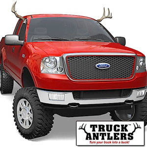 truck antlers Truck Antlers do not fool reindeer in the slightest