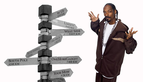 Snoop Dogg GPS Snoop Dogg GPS voice skin tells you the quickest way to the West Side