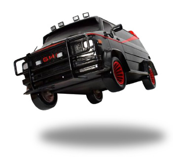 a team van toy Famous Cars from TV and the Movies