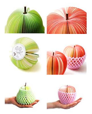 fruit memo pad 2 Get your teacher an apple she can write on. The Kudamemo Fruit Notepad
