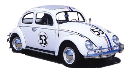 herbie the love bug vw beetle Famous Cars from TV and the Movies