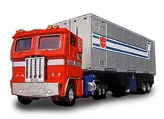optimus prime transformers peterbilt Famous Cars from TV and the Movies