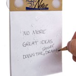 aquanotes waterproof notepad 150x150 Waterproof Notebook gets wet and keeps your words dry
