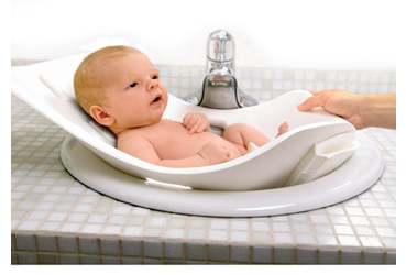 for babies on the go it 39 s a foldable baby bathtub one more gadget. Black Bedroom Furniture Sets. Home Design Ideas