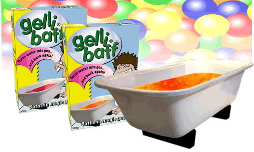 gellibaff Its like a Jell O bath, but a little more magical – its Gelli Baff