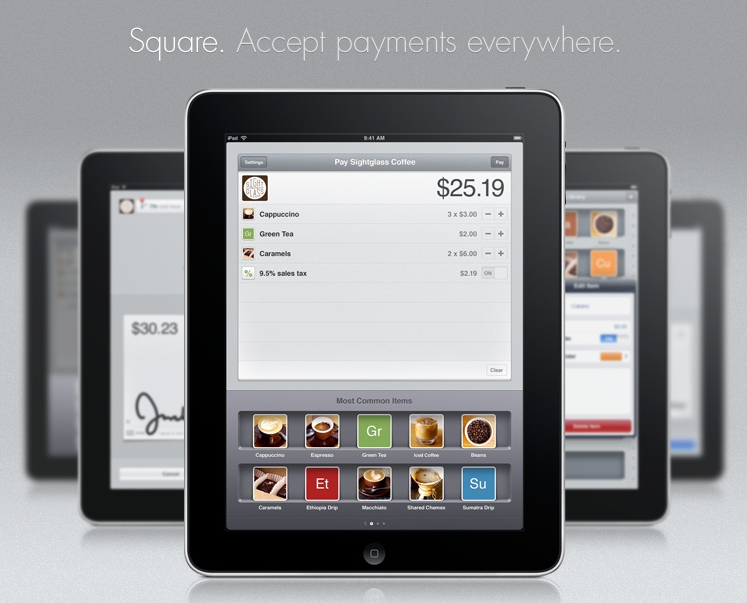 square up The iPad suddenly becomes more useful with Square