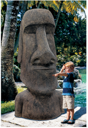 Picture 26 Life size Easter Island Monolith Statues for sale