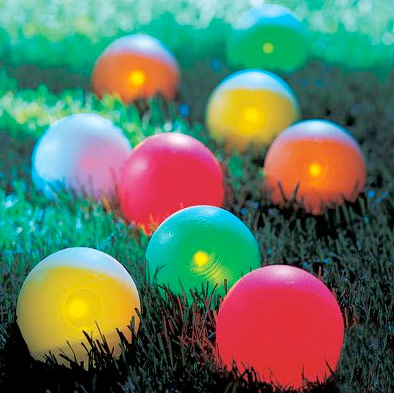 light up bocce ball set that glows in the dark
