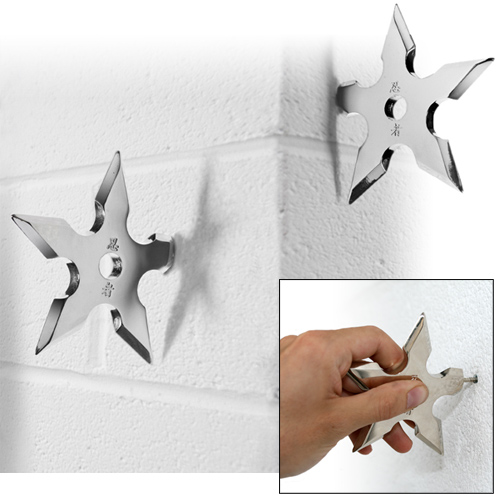 CNDL 1223 Does a ninja wear a jacket? Ninja Throwing Star Coat Hooks