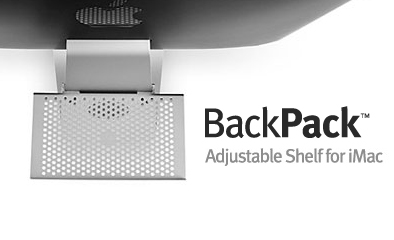 backpack imac shelf Hide things in the back with the iMac BackPack™