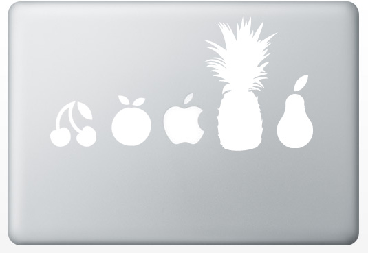 macbookstickers fruit Creative Apple MacBook Stickers