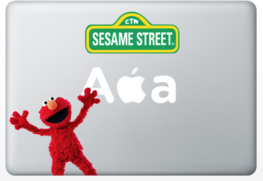 macbookstickers sesamestreet Creative Apple MacBook Stickers