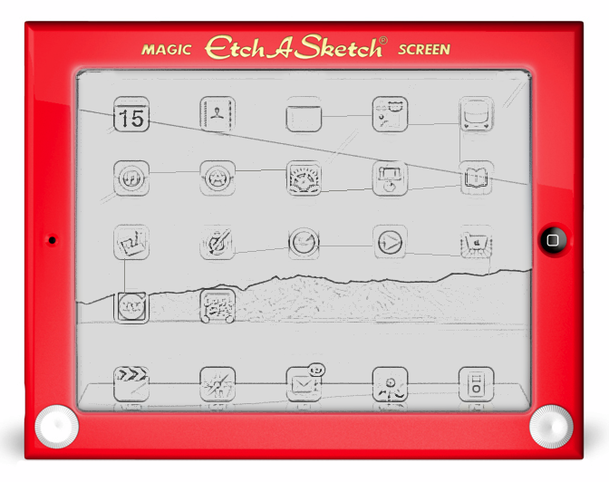 etch a sketch ipad case Turn your iPad into a sweet retro Etch A Sketch