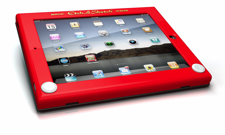 etch a sketch ipad case2 Turn your iPad into a sweet retro Etch A Sketch