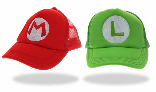 mario luigi baseball hats Soon to be a smash hit, Super Mario Bros. Trucker Hats