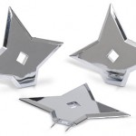 ninja throwing star push pins2 150x150 For that office look that says hey were cheap, its a Peel and Stick White Board