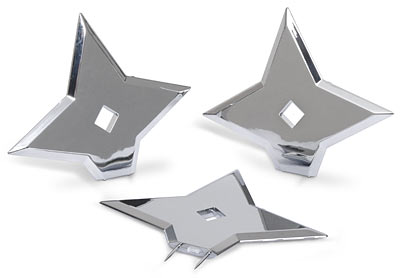 ninja throwing star push pins2 For White Collars and Black Belts: Ninja Throwing Star Push Pins