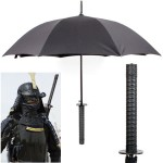 samurai umbrella 150x150 F You Rain! A new umbrella that gives rain the bird