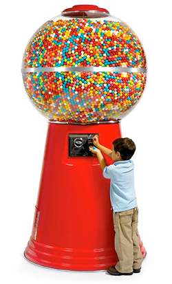14450 huge gumball machine Theres no such thing as too big. Its the 14,450 Gumball Machine