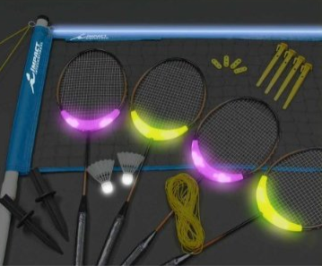 Picture 7 Tron ish? A backyard Badminton Game lights up the night