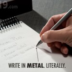 metal pen lead 150x150 Waterproof Notebook gets wet and keeps your words dry