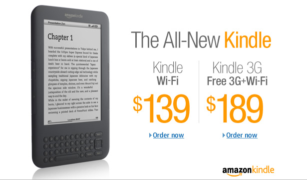 amazon new kindle Guest Post: The Top 10 Door Crasher Gifts for Christmas 2010