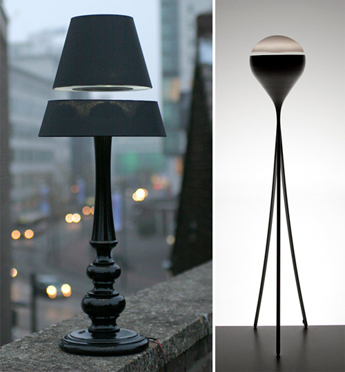 los lamps LOS! Magnetic Lamps are bizarre, insane, levitating lamps and I want one